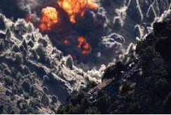 US airstrike during the battle of Tora Bora