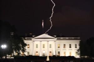 Whitehouse Lightning Easter Night