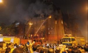 Muslim mob set fire to a Coptic Christian church in Cairo