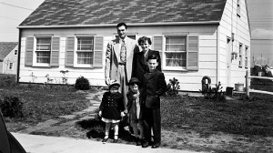 Typical 1950's middle class family
