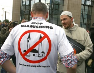 Dutch Group Vlaams Belang Protest Mosques in the Netherlands