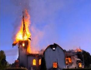 Muslim Burn Another Church