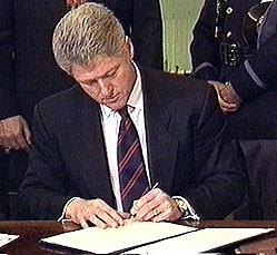clinton signs bill