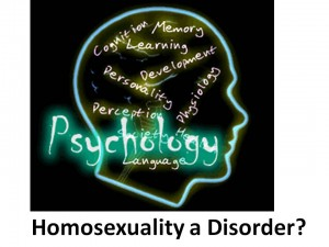 Homosexuality a Disorder