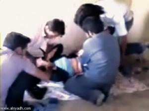 Muslims attacking girl