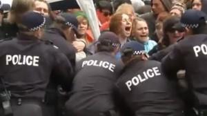 occupy riot police