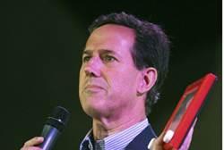 Santorum With Etch A Sketch