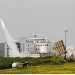 An Iron Dome launcher fires an interceptor rocket