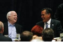 McCain with Romney