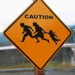 caution-illegal immigration sign