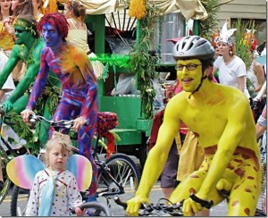 Homosexuals bring children to perverted bike rally in San Francisco. (sic)