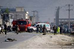 Aftermath of suicide bombings in Kabul Tuesday