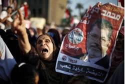 Celebrating Mursi's victory in Cairo