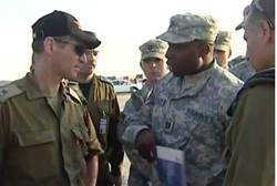Israel and US officers in joint drill