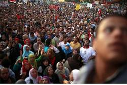 Protest in Cairo against Ahmed Shafiq