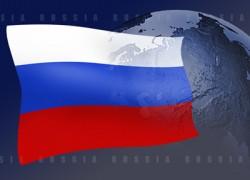 Russia-flag-globe