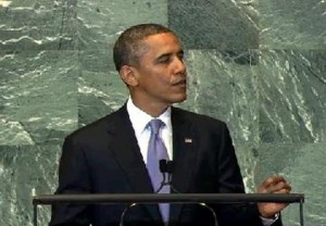 President Obama addressing the United Nations General Assembly. Photo: White House.