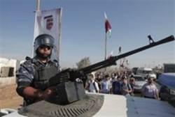 Hamas soldiers before arrival of Qatari Emir