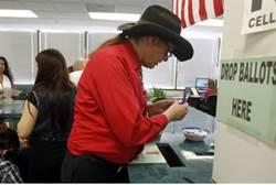 Vanishing species? White male voter in LA.