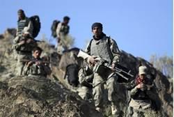Afghan border policemen