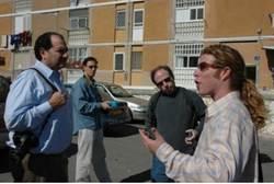 Noam Bedein with Reporters in Sderot