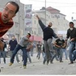 Arabs throw rocks (archive)