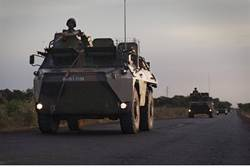 French military vehicle in Mali
