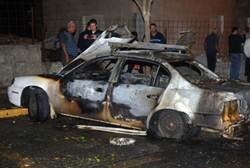 Bombed car (illustrative)
