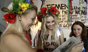 FEMEN Topless Women Protest Islam