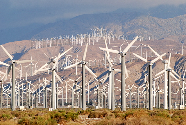 palm springs wind farms