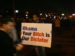 Non-muslim Egyptians protest Obama