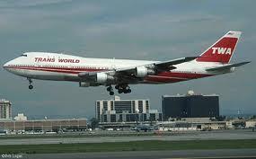 twa jetliner 747