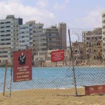 The Ghost Town of Varosha, Famagusta Cyprus which was taken hostage by the Turkish Army in August 1974 and has been used as a bargaining counter since that date.