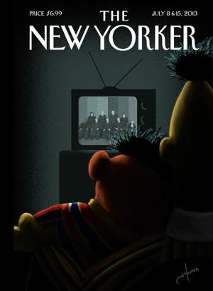 newyorker cover - bert and ernie