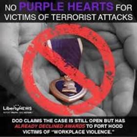 no purple heart - victims of terror attack