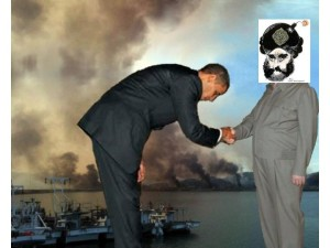 Obama bows to islam