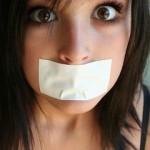 girl silenced
