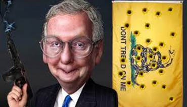 mcconnell goofy shoots conservative flag