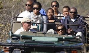 Obama fraud Safari Trip with daughters