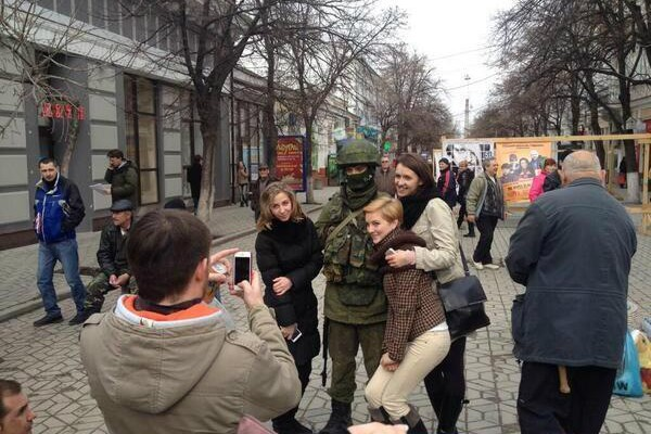 Russian Army Welcomed in Crimea