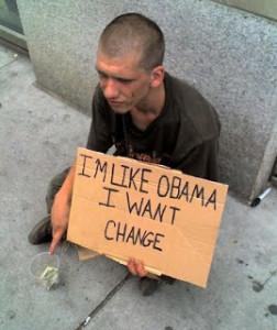 Obama Change Beggar