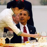 Obama with staff