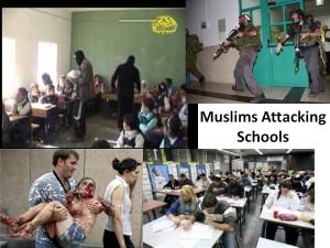 Muslims attack schools