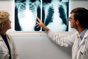 Illegal Aliens XRay on the Left is Positive for Tuberculosis