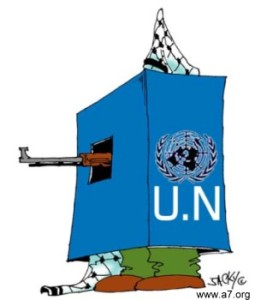 Hamas hiding behind UN