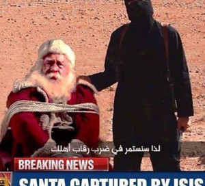 Merry Christmas from The Religion of Peace This image is courtesy of people who perform  actual beheadings (as if it couldn't get creepier).