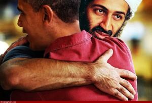 Obama hugs bin laden