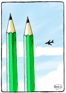 A Brilliant cartoon disciplining to Islamic terrorist events.