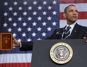 Obama with Koran