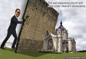 Obama destroying churches